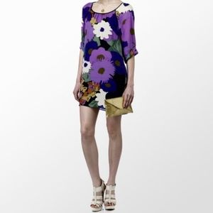 Tibi Silk Floral Print Dress